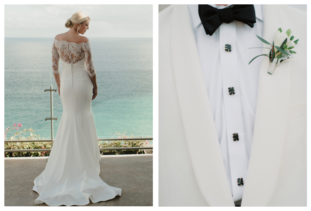 real wedding dress vera wang grand velas los cabos mexico