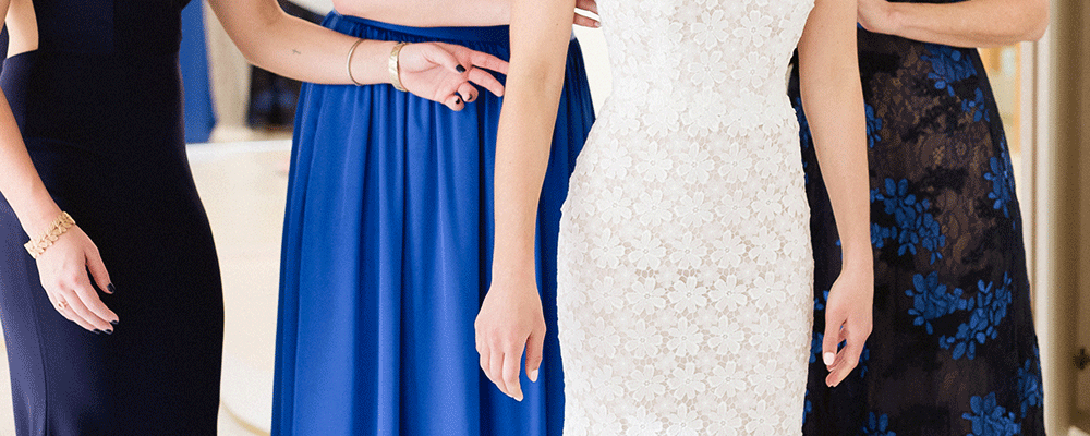 something blue bridesmaids dresses color of the year